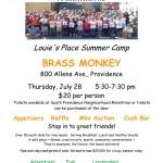 BRASS Monkey camp flyer